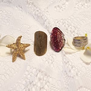 4 large statement rings jewelry queen